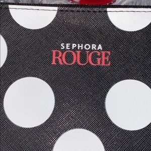NWOT Sephora Rouge cosmetic clutch bag